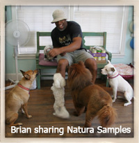 Brian with Natura Samples